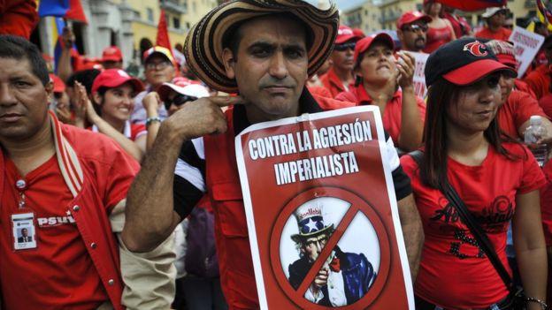 Manifestación contra Estados Unidos en Venezuela
