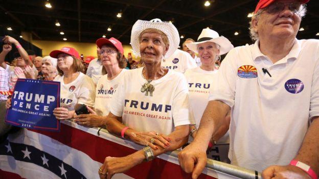 Supporters in Phoenix