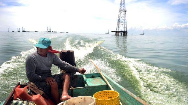 Pescador del lago Maracaibo