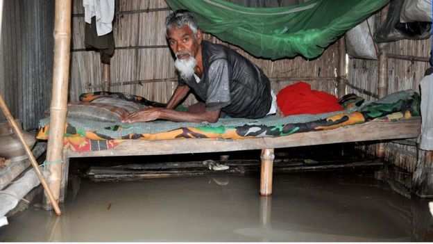 A flood victim in Jamalpur district of Bangladesh