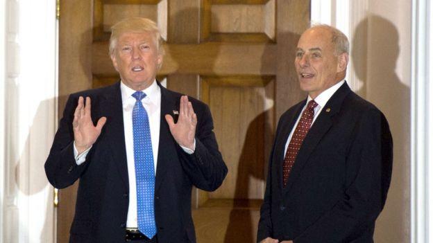 Donald Trump y John Kelly