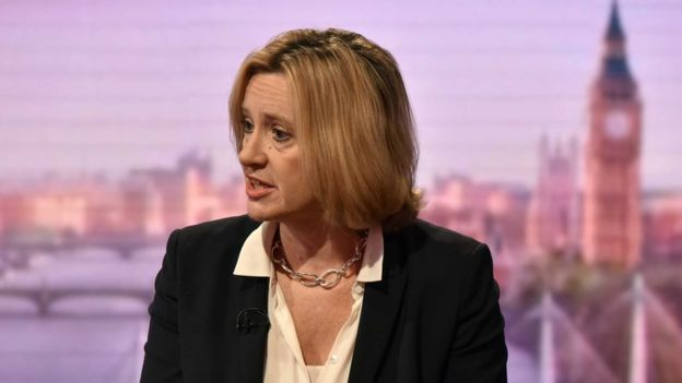 Home Secretary Amber Rudd on the Andrew Marr show.