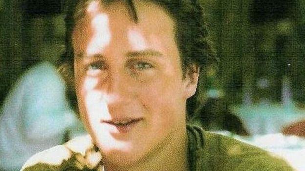 David Cameron as a young man