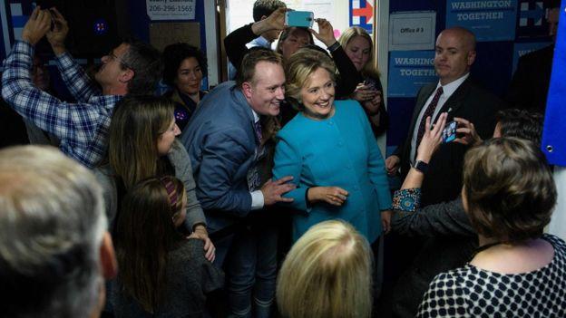 Hillary Clinton en campaña