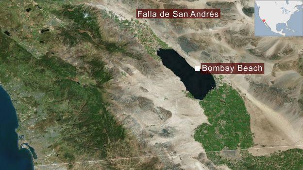 Mapa de la falla de San Andrés