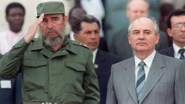 Fidel Castro con Gorbachov