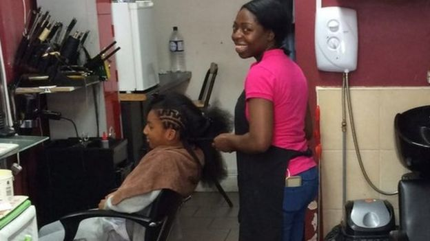 A Nigerian hairdresser in London