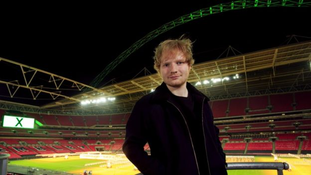 Ed Sheeran at Wembley