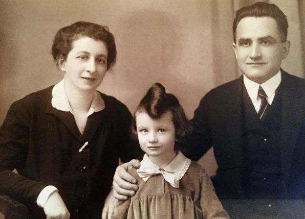 Zuzana Ruzickova and her parents