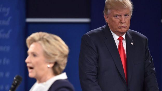 Clinton y Trump en debate