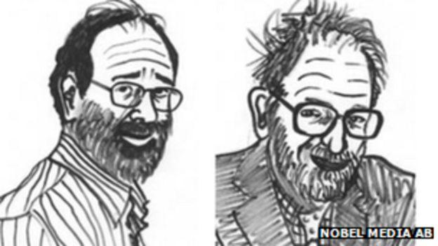 Los economistas Alvin Roth y Lloyd Shapley, ganadores del premio Nobel de economía en 2012