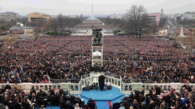 Donald Trump en su discurso inaugural