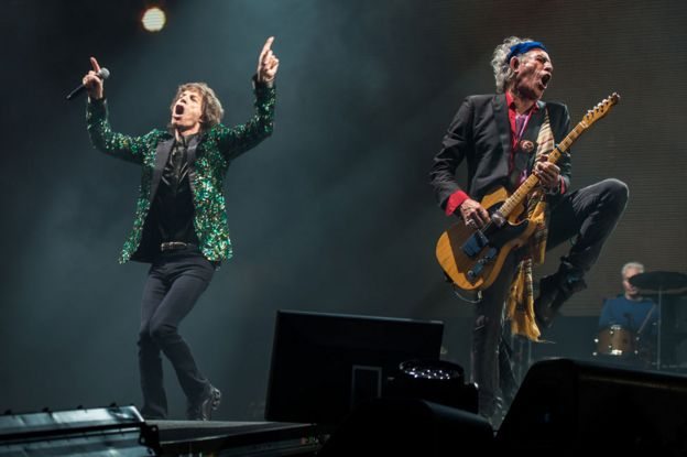 Mick Jagger, Keith Richards, Glastonbury 2013
