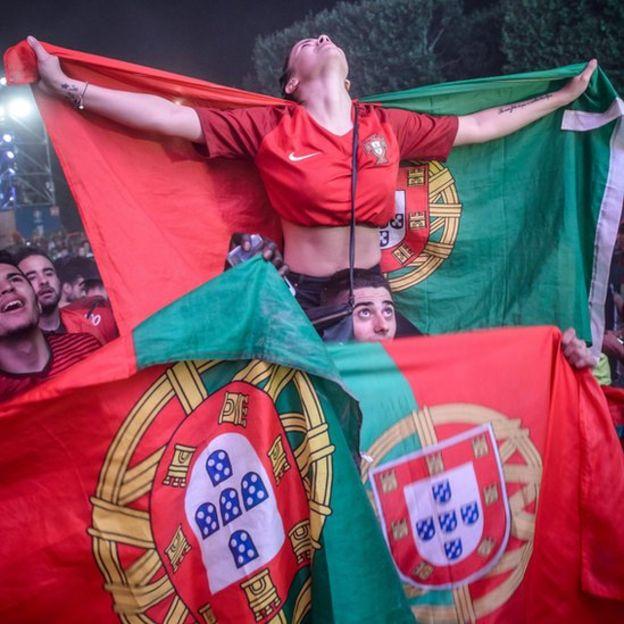 Aficionados portugueses.