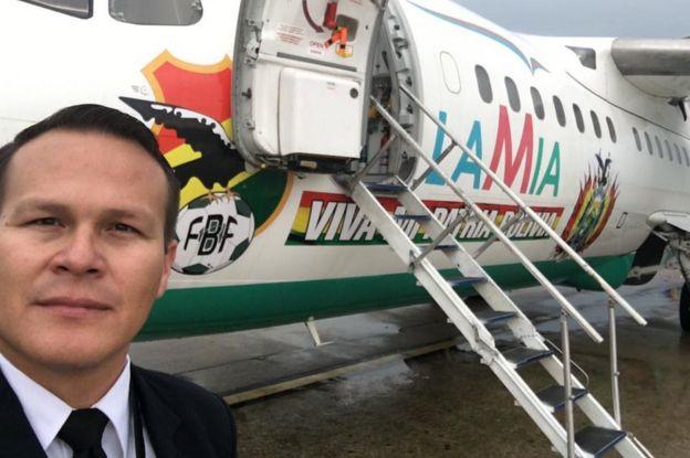 Resultado de imagen para piloto del avion de lamia accidentado