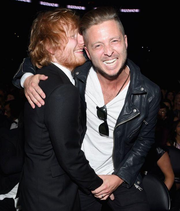 Ed Sheeran y Ryan Tedder