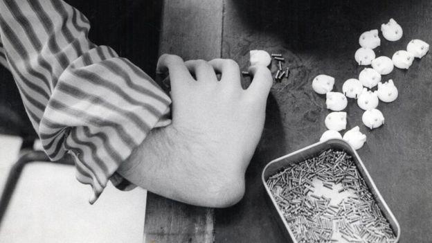 A man's hand