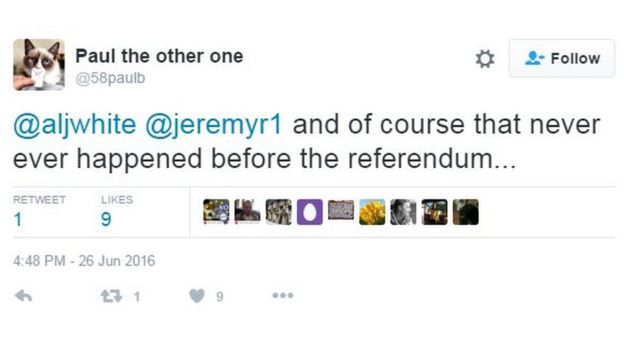 and of course that never ever happened before the referendum...