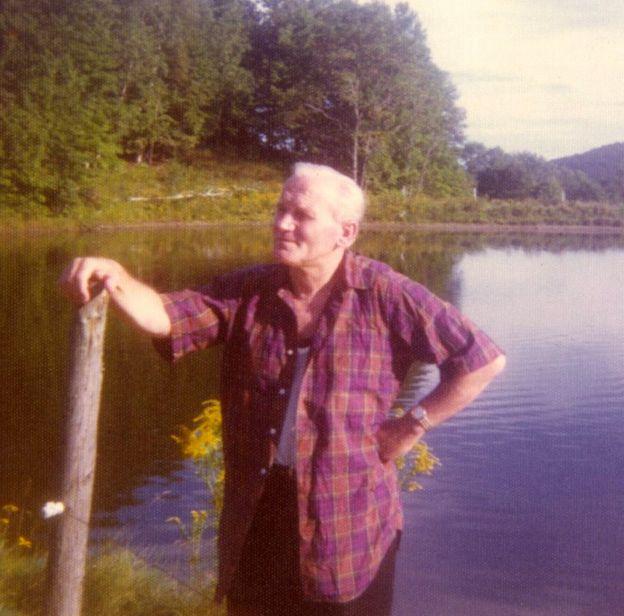 Karol Wojtyla relaxing by a lake