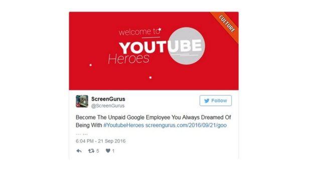 comentario en Twitter contra la iniciativa de YouTube