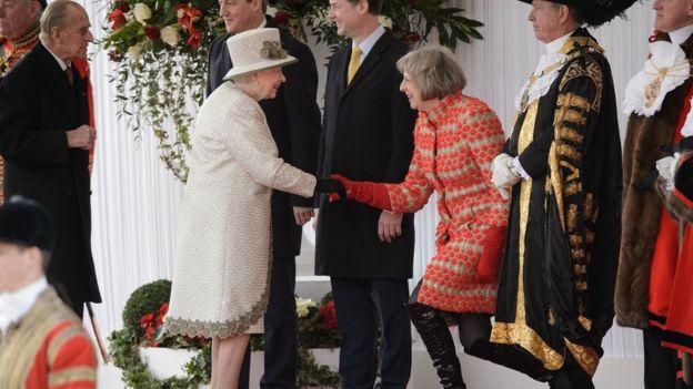 Королева Елизавета, Принц Филипп, Дэвид Кэмерон, Тереза Мэй
