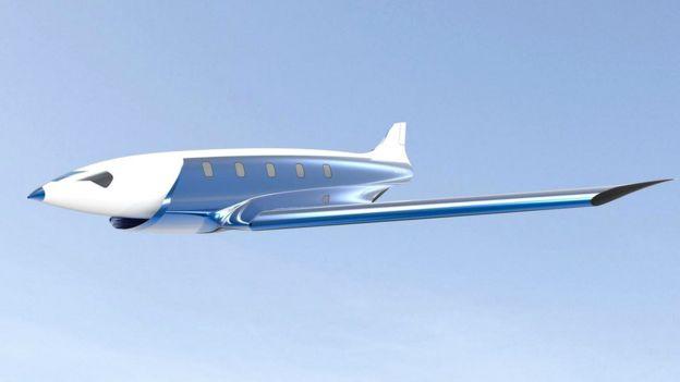 Концепция сверхскоростного самолета, предлагаемая канадским инженером Шарлем Бомбардье, призвана вдохновить на подобные эксперименты других авиаконструкторов
