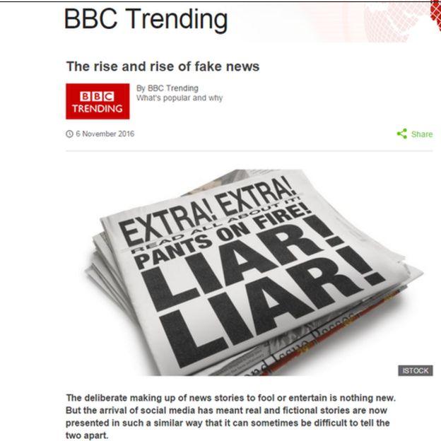 Ảnh chụp màn hình blog của BBC