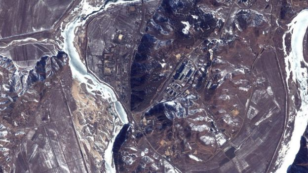 Satellite view of Yongbyon nuclear facility (file photo Feb 2000)