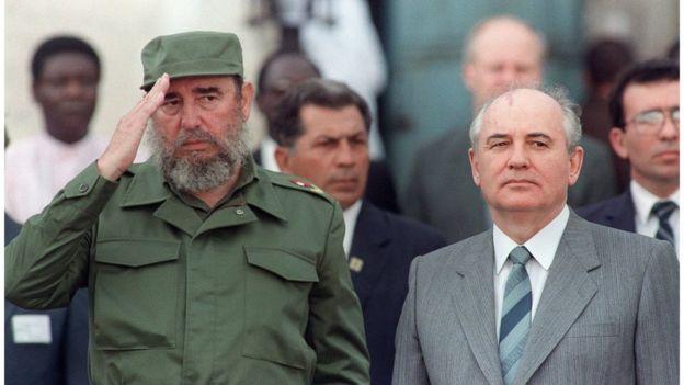 Fidel Castro e Mikhail Gorbachev