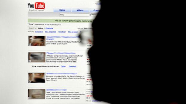Man watching YouTube