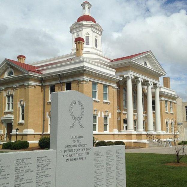 La corte de la localidad de Kenansville, en Carolina del Norte.