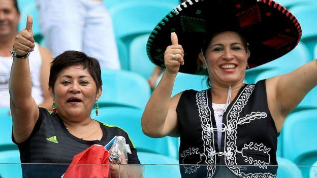 Hinchas mexicanas en Río 2016