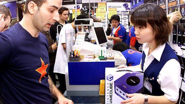 Customer buys a Nintendo Gamecube