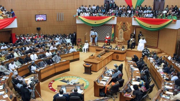 President John Dramani Mahama delivers his State of the Nation address in February 2014.