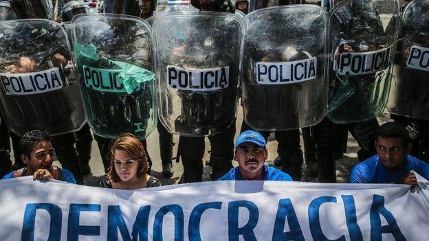 Protesta contra el CSE en Nicaragua