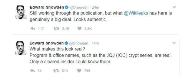 Эдвард Сноуден Wikileaks маалыматына таасирленгенин жана ал чындыкка жакын экенин