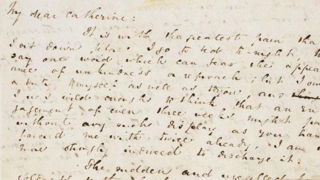 Carta de Charles Dickens a Catherine Hogarth