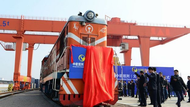 China freight train bound for Madrid