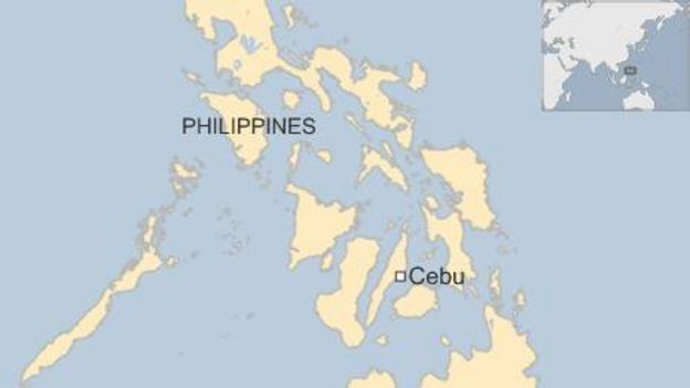Map of Cebu, Philippines