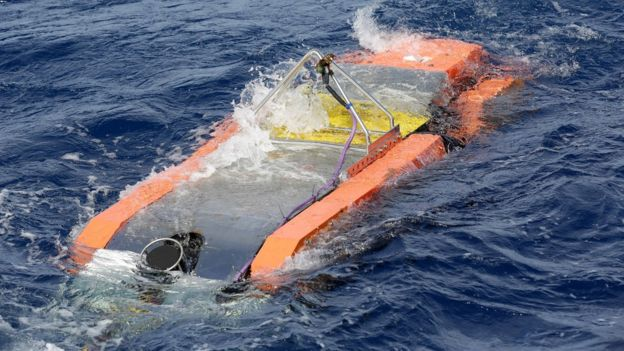 Underwater search equipment is lowered into the southern Indian Ocean (file image)