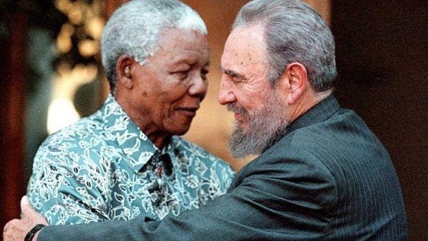 Fidel Castro na Nelson Mandela