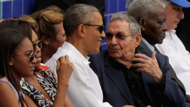Obama's visit to Havana where he met Raul Castro showed how far relations have changed
