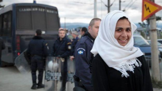 Refugee woman at Idomeni