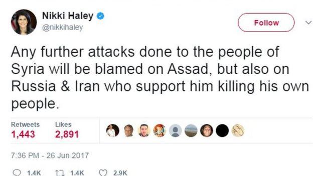 Nikki Haley tweet