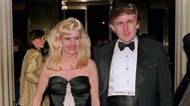 Ivana na Donald Trump mwaka 1989