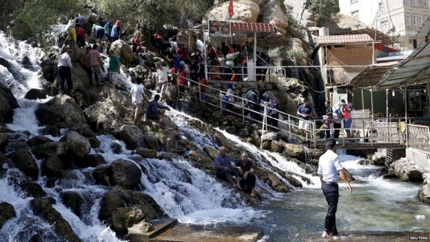Residents visit Bekhal tourist resort in Erbil