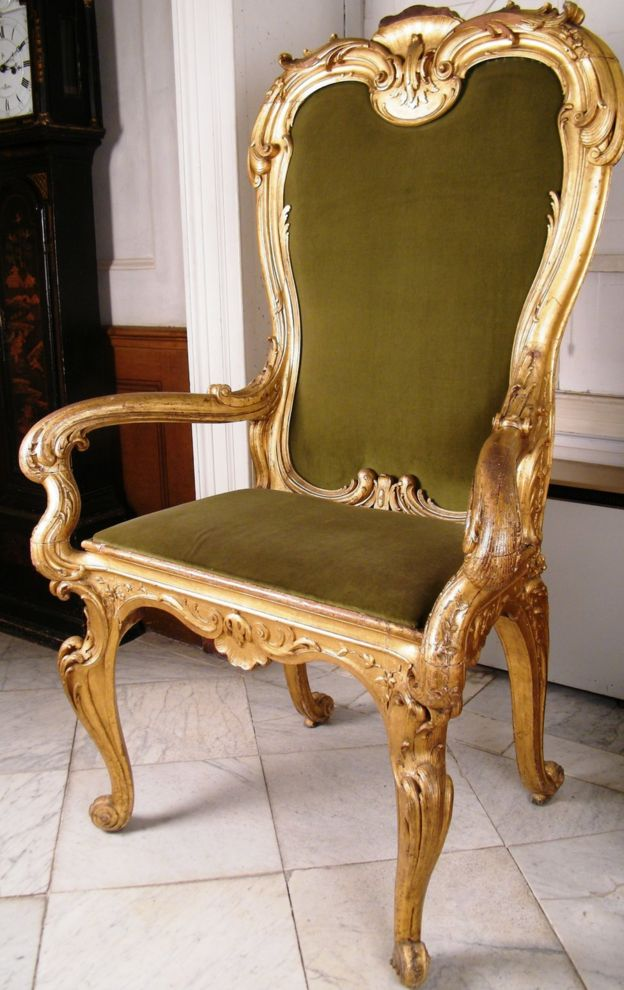 Gilt 18th Century armchair