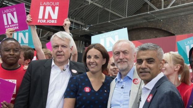 Carwyn Jones, Kezia Dugdale, Jeremy Corbyn and Sadiq Khan