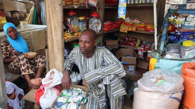 Nigerian shop seller