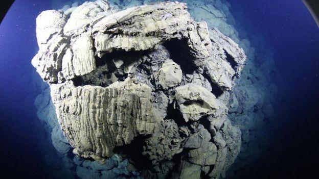El resultado de una erupción bajo el agua